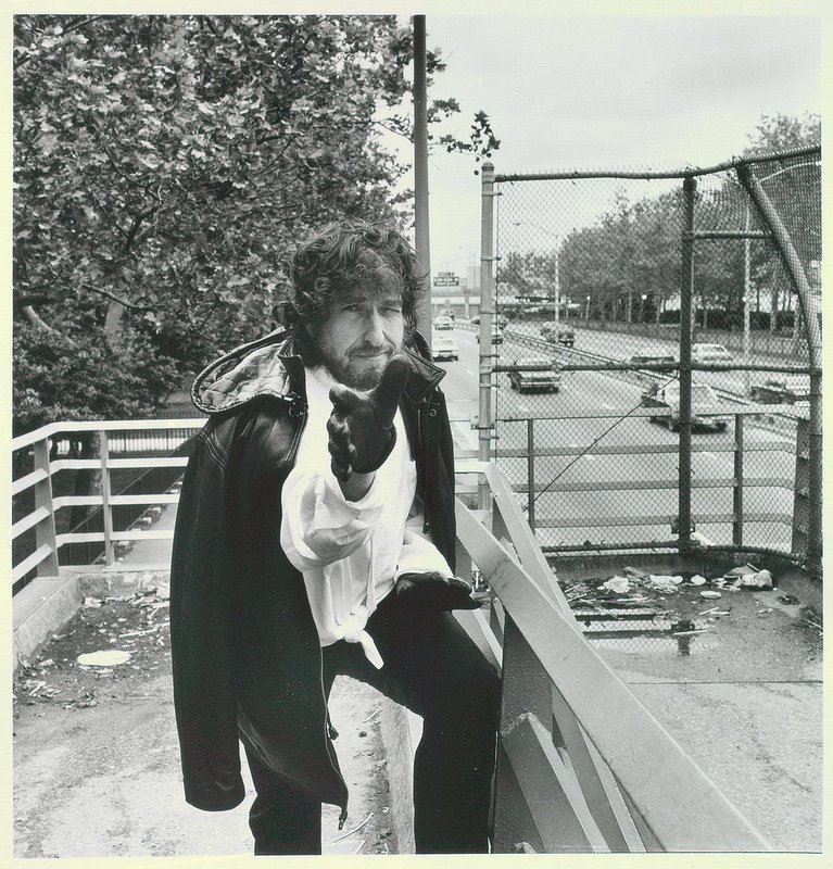 Photos of Bob Dylan, Tompkins Square Park -  May 21, 1990.